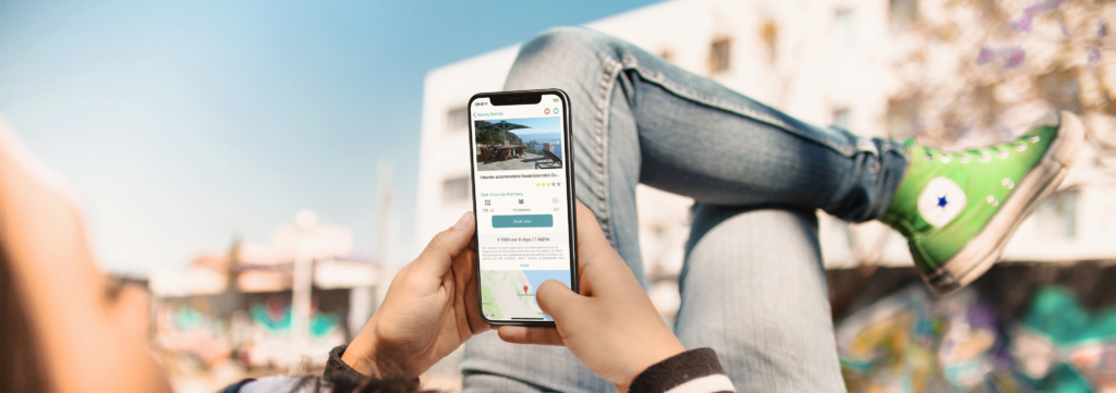 Holiday rentals search app Engels