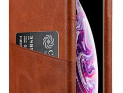 Melkco Leather Wallet Backcover IPhone XS Max Hoesje Bruin