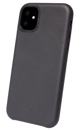 Decoded Leather Backcover IPhone 11 Pro Max Hoes Zwart