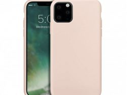 Xqisit Silicone IPhone 11 Pro Max Hoes Roze