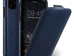 Melkco Leather Jacka IPhone 11 Pro Max Hoes Blauw