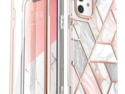 Supcase Cosmo Marble IPhone 11 Hoesje Roze