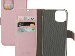 Mobiparts Saffiano Wallet IPhone 12 Pro / IPhone12 Hoesje Roze
