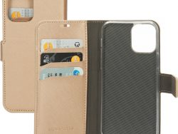 Mobiparts Saffiano Wallet IPhone 12 Pro / IPhone 12 Hoesje Copper