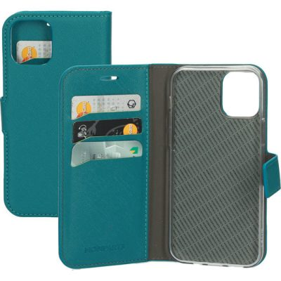 Mobiparts Saffiano Wallet IPhone 12 Pro / IPhone 12 Hoesje Blauw