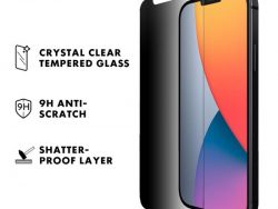 LAUT Prime Privacy Glass IPhone 12 Pro / IPhone 12screenprotector + Tool
