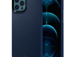 Spigen Cyrill Leather IPhone 12 Pro Max Hoesje Blauw