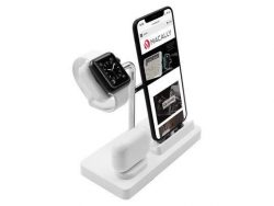 MacAlly 3 In 1 Oplaadstation Inclusief Apple Watch Wit