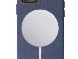 Decoded Leather MagSafe Backcover IPhone 12 Mini Hoesje Blauw