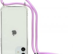 Mobiparts Lanyard IPhone 11 Hoesje Paars