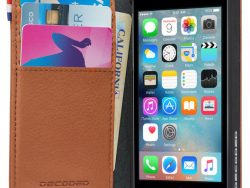 Decoded Leather Wallet IPhone SE 2016 / 5S Hoesje Bruin