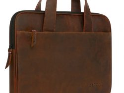 Decoded Waxed Leather Bag Tas Bruin