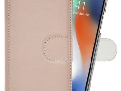 Pipetto Leather 2 In 1 Wallet IPhone X Hoesje Roze