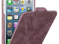 Decoded Leather Flip X IPhone SE/5S Hoesje Paars