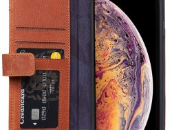 Decoded Leather Card Wallet IPhone Xs Max Hoes Bruin