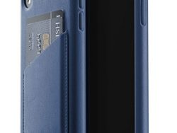 Mujjo Leather Wallet IPhone XR Hoes Blauw