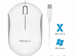 MacAlly QMouse Optische USB Muis Wit