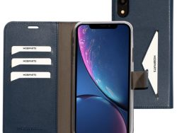 Mobiparts Classic Wallet IPhone XR Hoesje Blauw