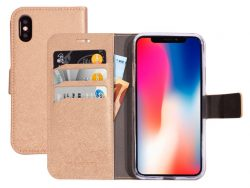 Mobiparts Saffiano Wallet IPhone XS / X Hoesje Copper