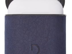 Decoded Aircase Leren AirPods Hoes Blauw