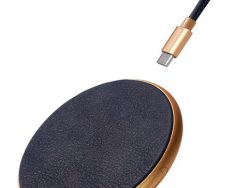Decoded Leather Draadloze IPhone Oplader + Kabel Blauw