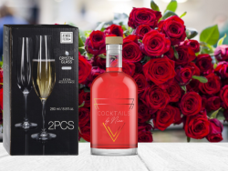 Roses are red (750ml) + 2 Champagne flutes