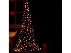 Fairybell licht kerstboom 185 cm 250 LED warm wit inclusief mast