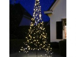 Fairybell licht kerstboom 300 cm 360 LED warm wit inclusief mast