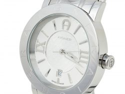 Aigner Silver Stainless Steel Cortina A26000 Men's Wristwatch 41 mm