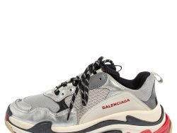 Balenciaga Multicolor Mesh And Leather Triple S Sneakers Size 41