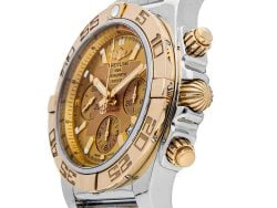 Breitling Champagne 18K Rose Gold And Stainless Steel Chronomat CB011012/H548 Men's Wristwatch 44 MM