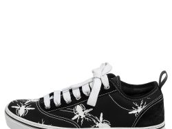 Dior Homme Black Fabric and Suede Bee Print Lace Up Sneakers Size 41