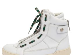 Dsquared2 White Leather High Top Sneakers Size 42.5