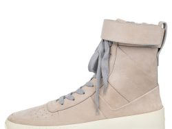 Fear Of God Beige Nubuck Leather Military High Top Sneakers Size 41