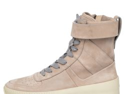 Fear Of God Beige/Grey Suede Military High Top Sneakers Size 40