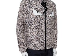 Fendi Grey Bag Bugs Printed Synthetic Monster Eye Patch Detail Hooded Jacket S
