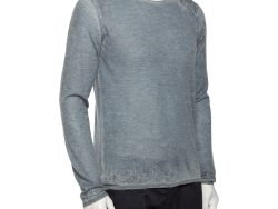 Giorgio Armani Grey Washed Out Effect Cashmere Lightweight Sweater L