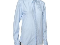 Givenchy Light Blue Cotton Long Sleeve Button Front Classic Slim Fit Shirt S
