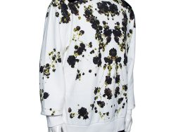 Givenchy White Floral Printed Cotton Oversized Crewneck Sweatshirt S