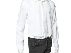 Givenchy White Embroidered Cotton Button Front Shirt XL