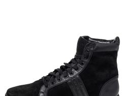 Givenchy Black Suede and Leather High Top Sneakers Size 43