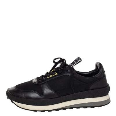 Givenchy Black Nylon and Leather TR3 Runner Low Top Sneakers Size 43