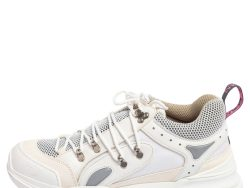 Gucci White Mesh And Leather Flashtrek Sneakers Size 45