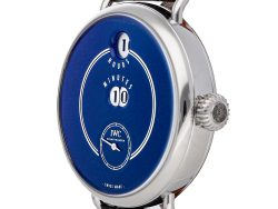 """IWC Blue Stainless Steel Tribute to Pallweber Edition """"150 Years"""" IW5050-03 Men's Wristwatch 45 MM"""