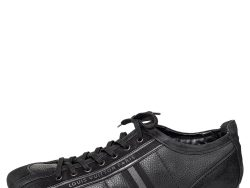 Louis Vuitton Black Nubuck And Leather Cosmos Low Top Sneakers Size 43.5