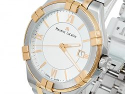 Maurice Lacroix Silver Two-Tone Stainless Steel Aikon AI1008-PVY13-132-1 Men's Wristwatch 41 mm