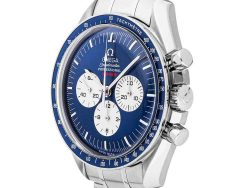 """Omega Blue Stainless Steel Speedmaster Professional Moonwatch """"Gemini 4 First Space Walk"""" 40th Anniversary Limited Edition 3565.80.00 Men's Wristwatch"""