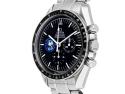 """Omega Black Stainless Steel Speedmaster Professional Moonwatch """"Snoopy"""" Limited Edition 3578.51.00 Men's Wristwatch 42 MM"""