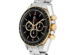 Omega Black 18K Yellow Gold And Stainless Steel Speedmaster Professional Moonwatch Tokyo Olympics Limited Edition 522.20.42.30.01.001 Men's Wristwatch