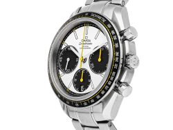 Omega Silver Stainless Steel Speedmaster Racing Chronograph 326.30.40.50.04.001 Men's Wristwatch 40 MM